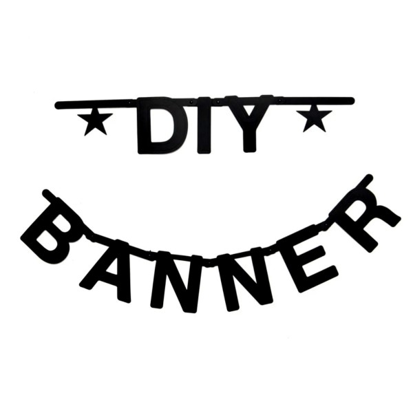 Buchstabengirlande DIY / Schwarz