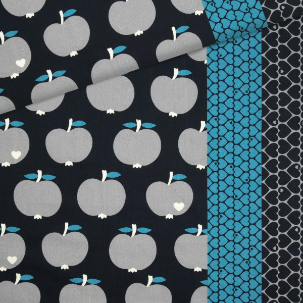Canvas Apfel / Schwarz