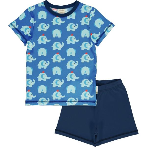Kurzer Schlafanzug / Elefant