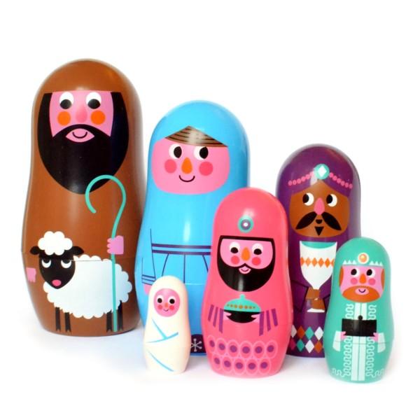 Matroschka Puppen Krippenfiguren