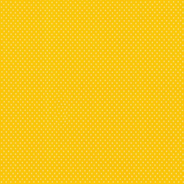Jersey Baumwollstoff kleine Punkte / Gelb