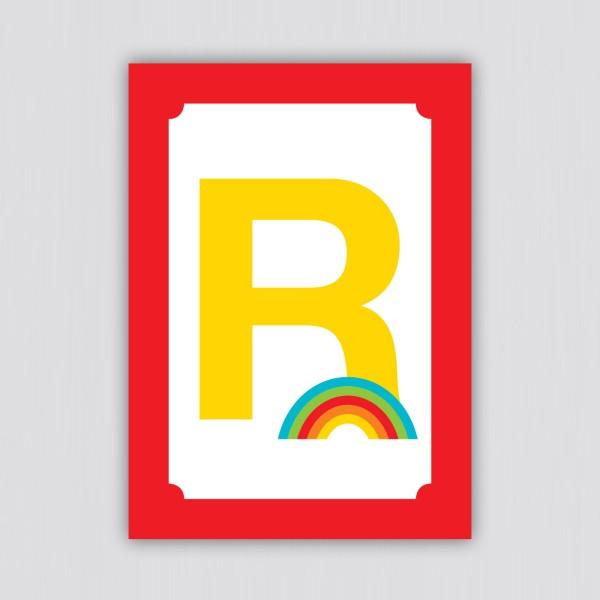 ABC Postkarte – R