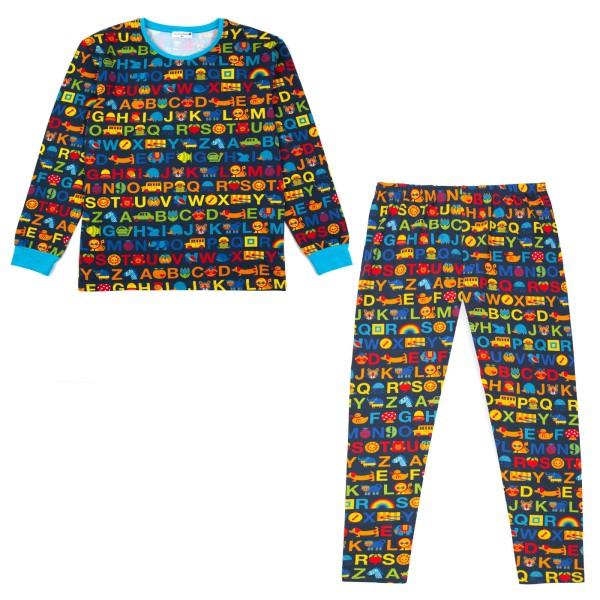 Papa Schlafanzug ABC / Blau