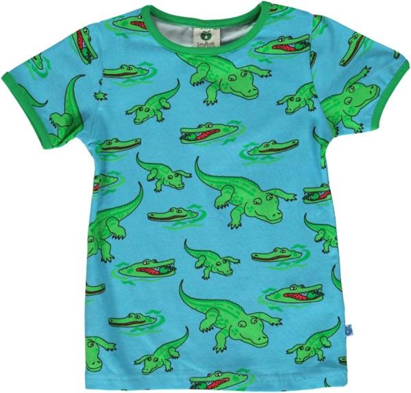 T-Shirt / Krokodil / Blau