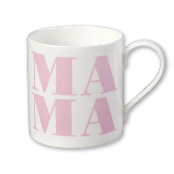 Porzellanbecher Mama / Herz