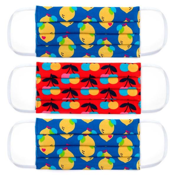 Erwachsene Masken 3-Set / Jersey Fruchtmix