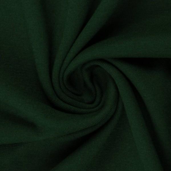 Bündchenstoff uni / Dunkelgrün