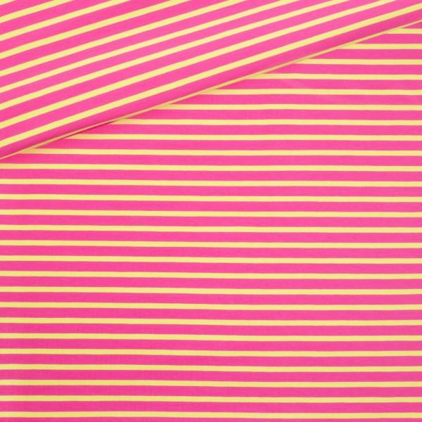Bio Jersey Ringel / Pink & lime