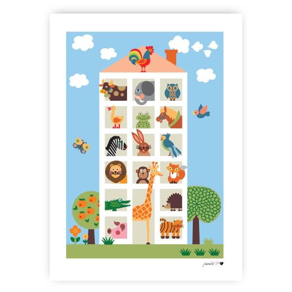 Poster Villa der Tiere