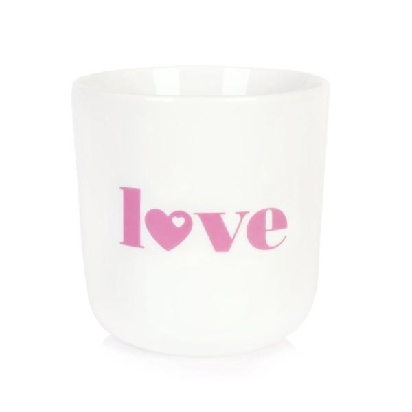 Porzellanbecher Love - Altrosa