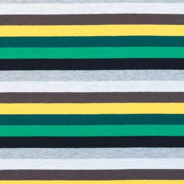 Jersey Streifen / Grün-Gelb