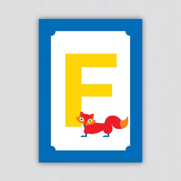 ABC Postkarte – F