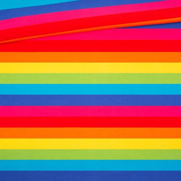 Regenbogen Blockstreifen Jersey