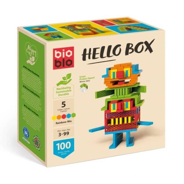 """Bausteine """"Hello Box"""" Regenbogen / 100 Steine"""
