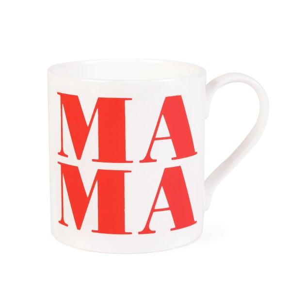 Porzellanbecher Mama - Rot