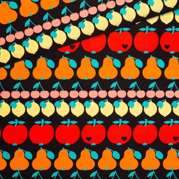 Sommersweat Fruity Mix - Schwarz