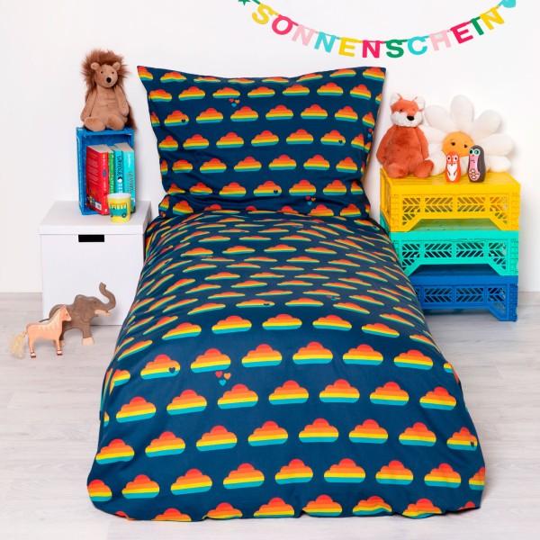 Bettwäsche Regenbogen Wolke / Blau