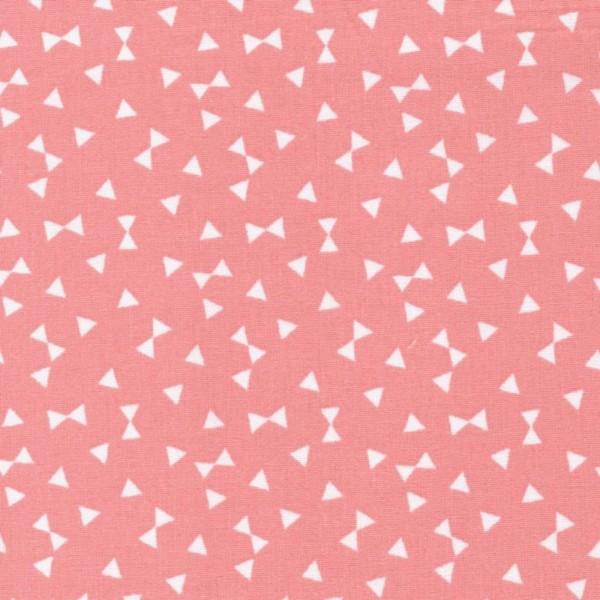 Baumwollstoff Dreiecke / Rot