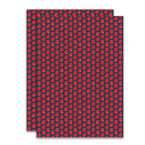 Geschenkpapier Apfel / Rot