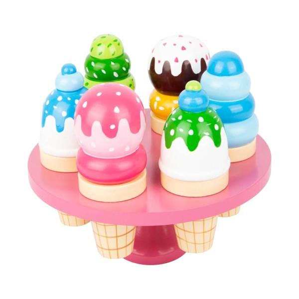 Eisständer mit Waffeleis