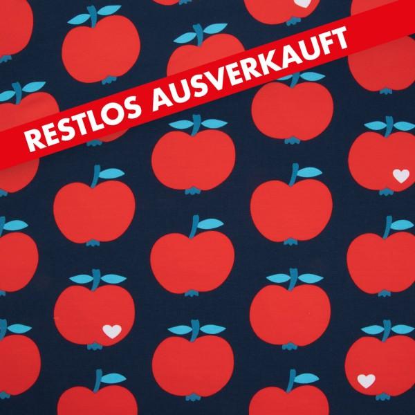 Sommersweat Big Apfel / Dunkelblau-Rot