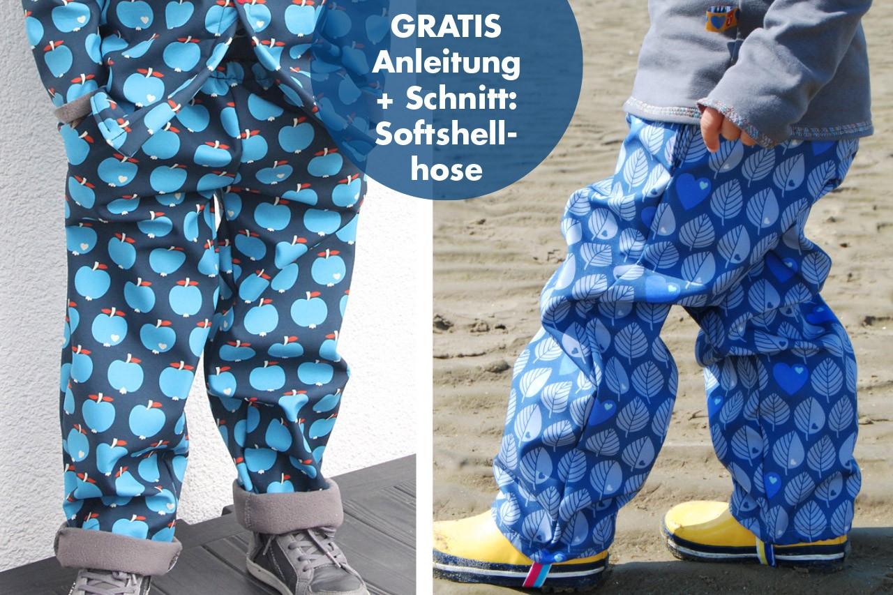 ♥ FREEBIE ♥ – Gratis Softshellhosen Schnittmuster für Kinder