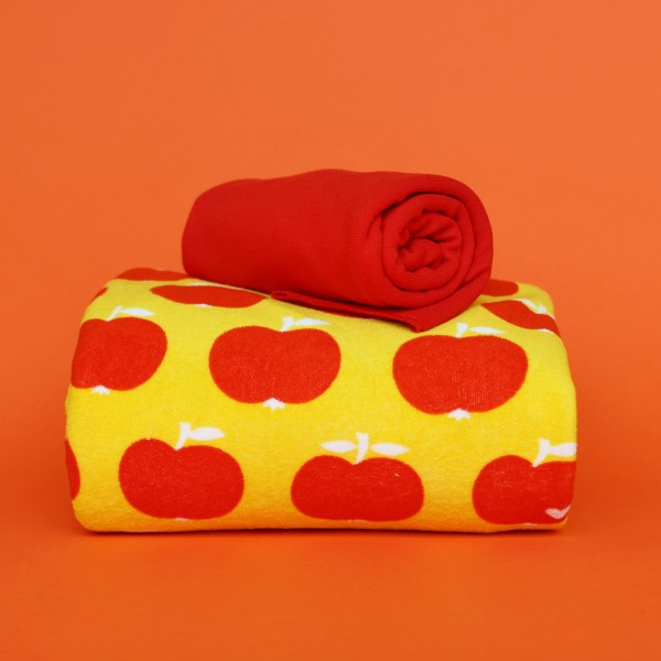 Stoffpaket Frottee Apfel - Rot