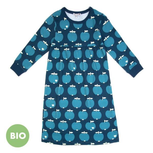 Kindernachthemd Apfel / Blau