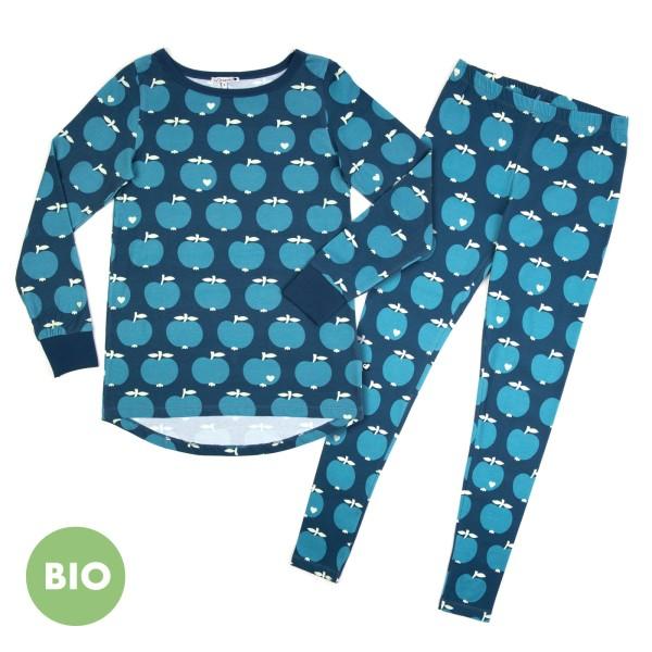Mama Schlafanzug Apfel / Blau