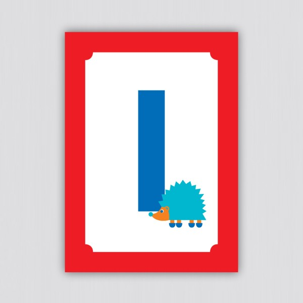 ABC Postkarte – I