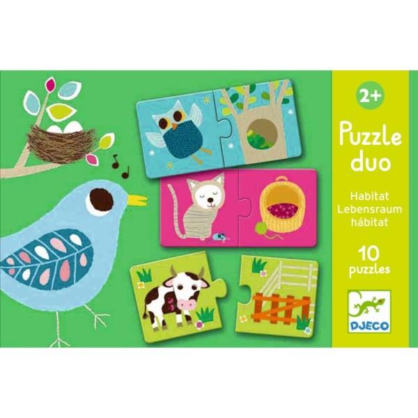 Lernspiel Puzzle Duo / Wo wohne ich