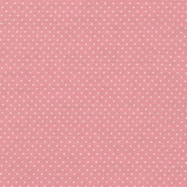Baumwollstoff kleine Punkte / Rosa