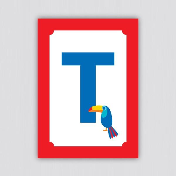 ABC Postkarte – T