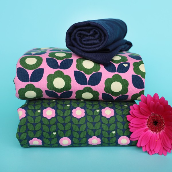 Stoffpaket Blumenliebe / Rosa