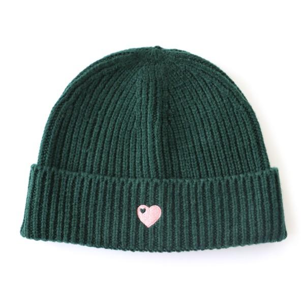 Mütze mit Herz / Grün