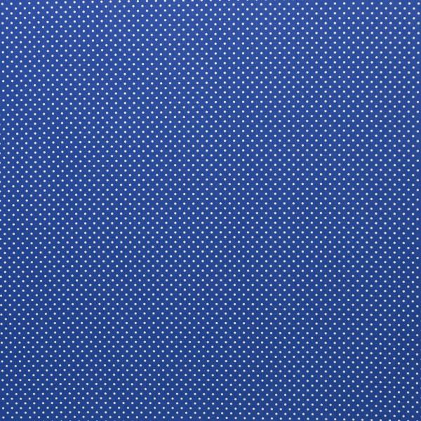 Kombi-Baumwollstoff kleine Tupfen / Royalblau