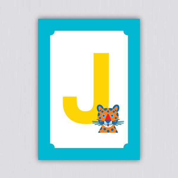 ABC Postkarte – J