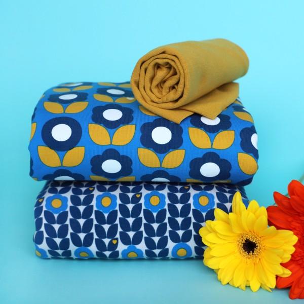 Stoffpaket Blumenliebe / Blau