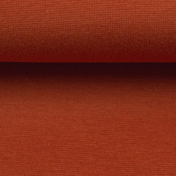 Bündchenstoff uni / Terracotta