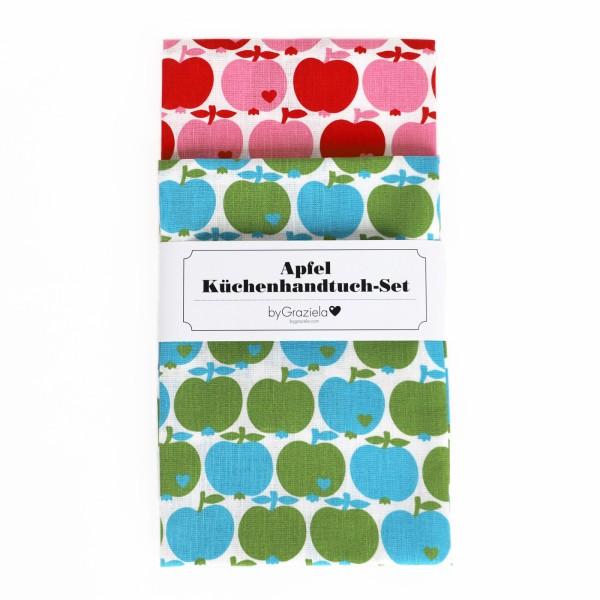 Küchenhandtuch Set / Apfel