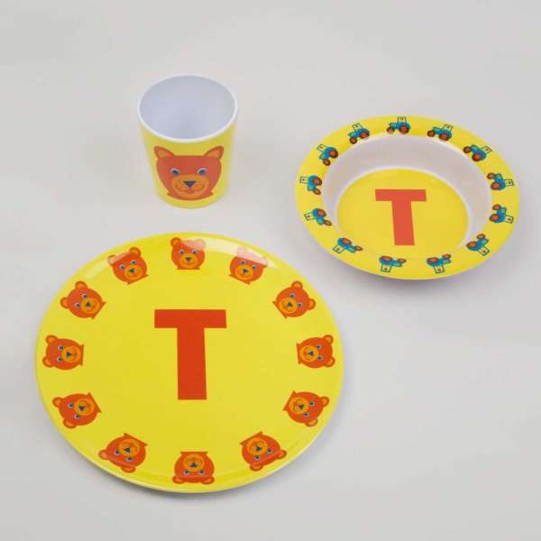 ABC Melamingeschirr-Set T