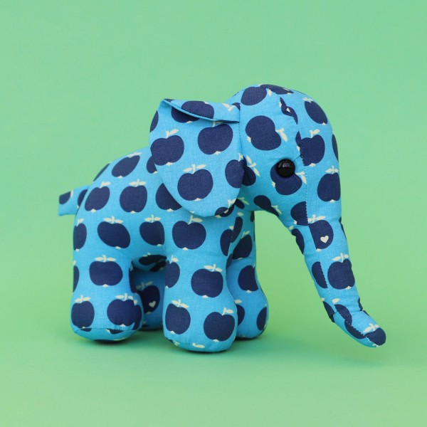 Apfel Elefant / Blau-blau