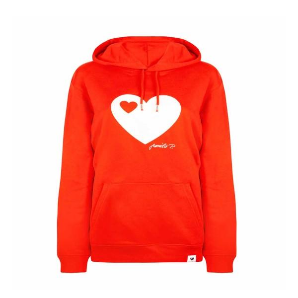 Kapuzen-Sweatshirt Rot / Herz