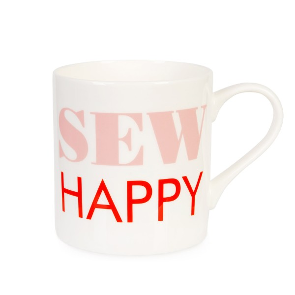Porzellanbecher Sew Happy