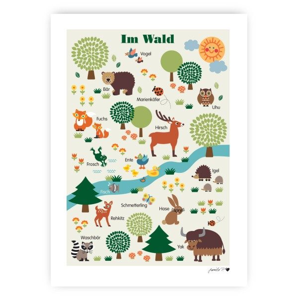 Waldtiere Poster