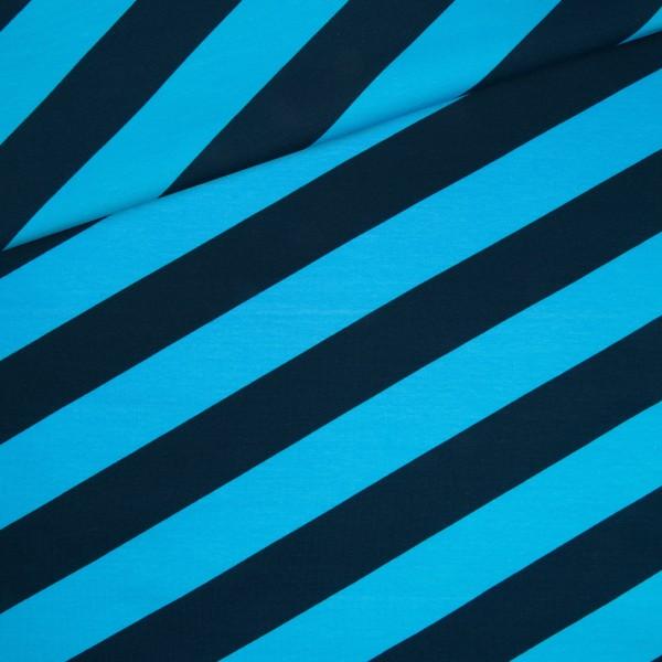 Sommersweat / Streifen-Blau