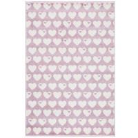 Teppich Herzen / Rosa-Weiß / 120 x 180cm