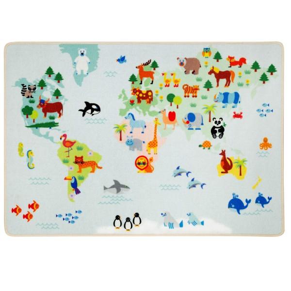 Spielteppich / Weltkarte