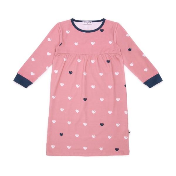 Kindernachthemd Herzen / Rosa