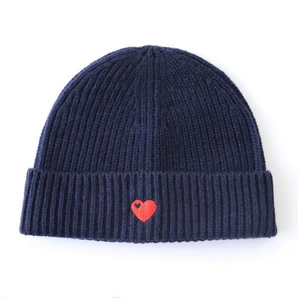 Mütze mit Herz / Navy